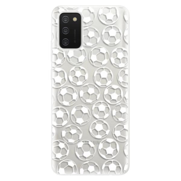Odolné silikonové pouzdro iSaprio - Football pattern - white - Samsung Galaxy A02s