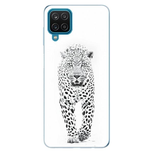 Odolné silikonové pouzdro iSaprio - White Jaguar - Samsung Galaxy A12