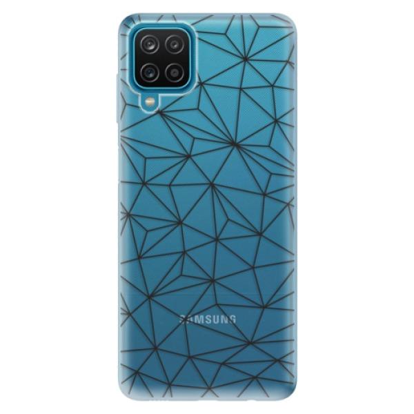 Odolné silikonové pouzdro iSaprio - Abstract Triangles 03 - black - Samsung Galaxy A12