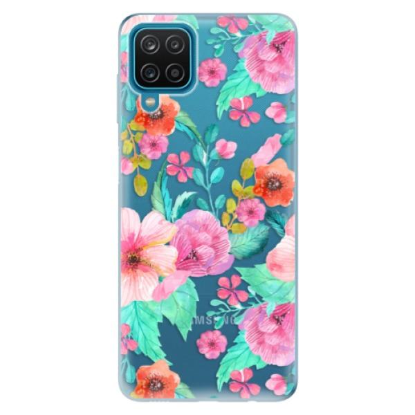 Odolné silikonové pouzdro iSaprio - Flower Pattern 01 - Samsung Galaxy A12