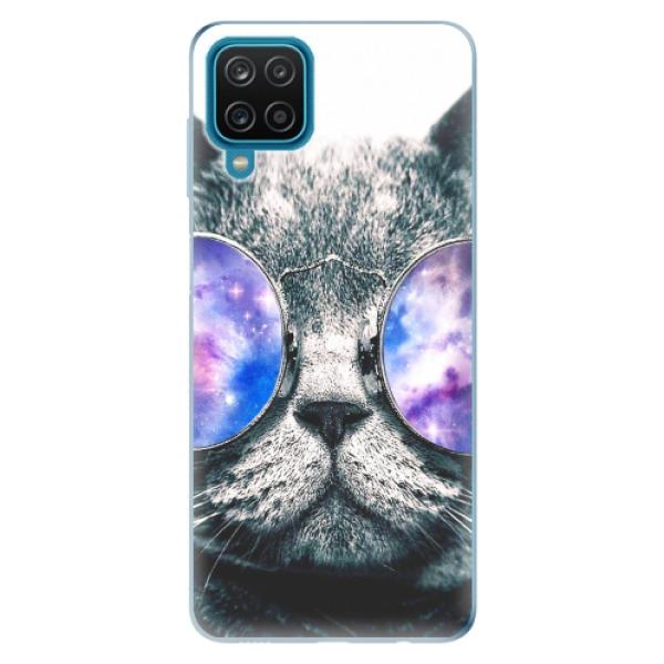 Odolné silikonové pouzdro iSaprio - Galaxy Cat - Samsung Galaxy A12