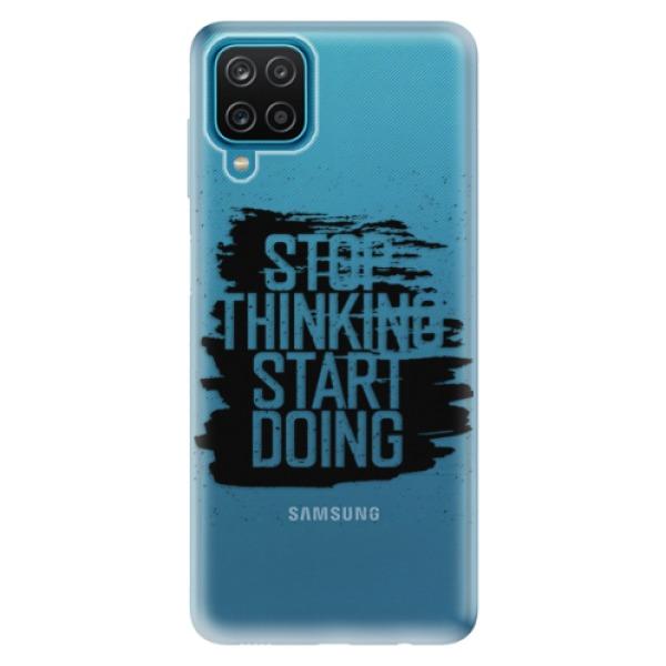 Odolné silikonové pouzdro iSaprio - Start Doing - black - Samsung Galaxy A12