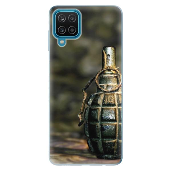 Odolné silikonové pouzdro iSaprio - Grenade - Samsung Galaxy A12