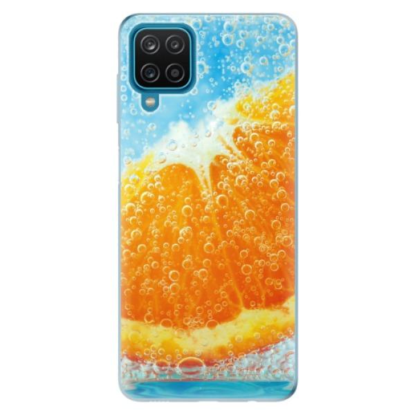 Odolné silikonové pouzdro iSaprio - Orange Water - Samsung Galaxy A12