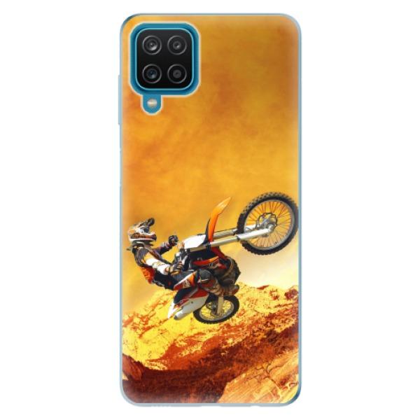 Odolné silikonové pouzdro iSaprio - Motocross - Samsung Galaxy A12