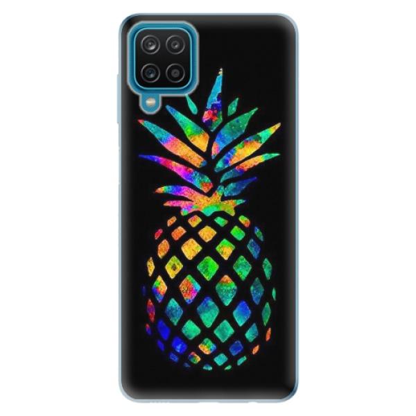 Odolné silikonové pouzdro iSaprio - Rainbow Pineapple - Samsung Galaxy A12