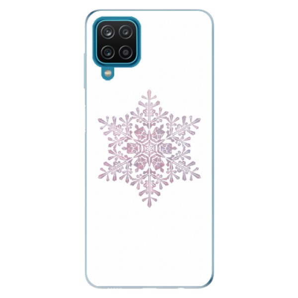 Odolné silikonové pouzdro iSaprio - Snow Flake - Samsung Galaxy A12