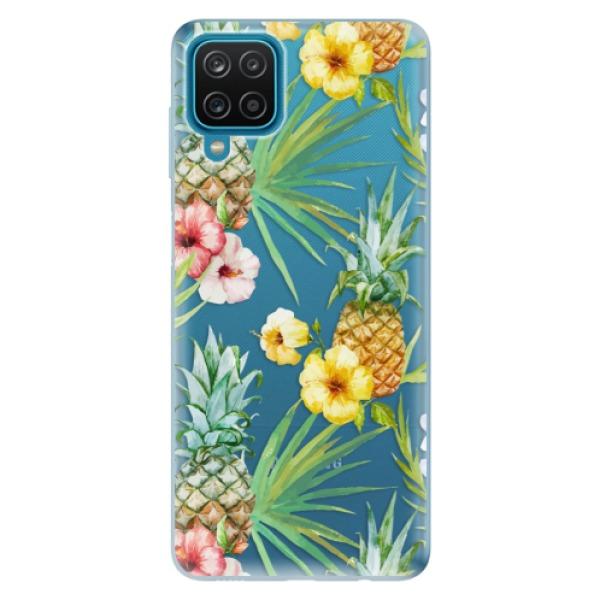 Odolné silikonové pouzdro iSaprio - Pineapple Pattern 02 - Samsung Galaxy A12