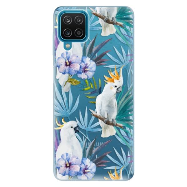 Odolné silikonové pouzdro iSaprio - Parrot Pattern 01 - Samsung Galaxy A12