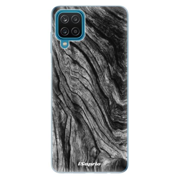 Odolné silikonové pouzdro iSaprio - Burned Wood - Samsung Galaxy A12