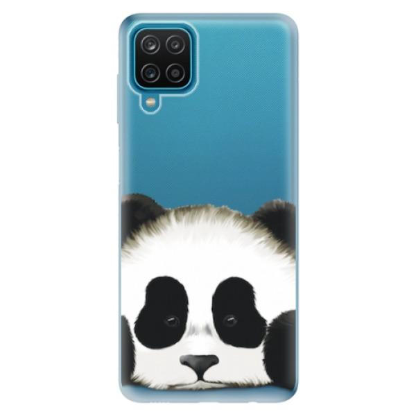 Odolné silikonové pouzdro iSaprio - Sad Panda - Samsung Galaxy A12