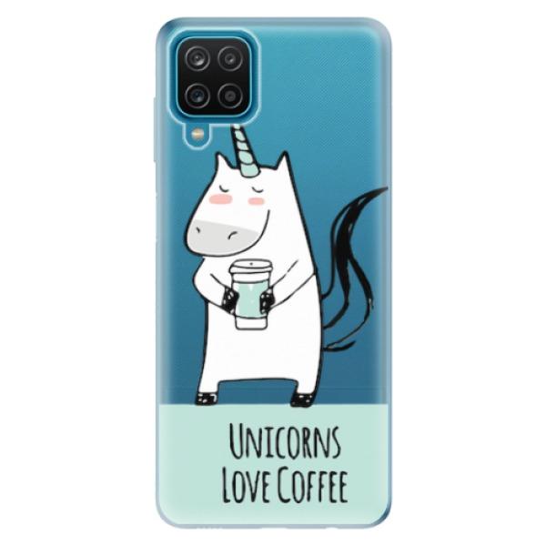 Odolné silikonové pouzdro iSaprio - Unicorns Love Coffee - Samsung Galaxy A12
