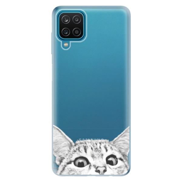 Odolné silikonové pouzdro iSaprio - Cat 02 - Samsung Galaxy A12