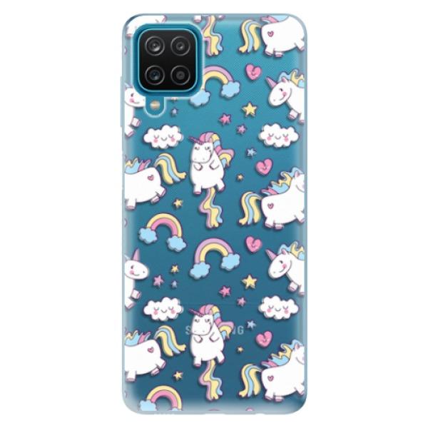 Odolné silikonové pouzdro iSaprio - Unicorn pattern 02 - Samsung Galaxy A12