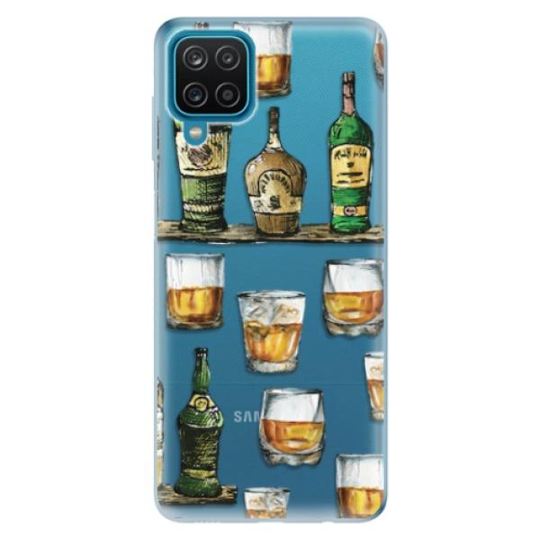 Odolné silikonové pouzdro iSaprio - Whisky pattern - Samsung Galaxy A12