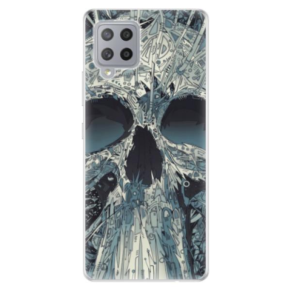 Odolné silikonové pouzdro iSaprio - Abstract Skull - Samsung Galaxy A42