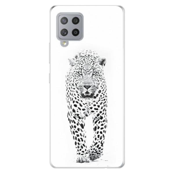 Odolné silikonové pouzdro iSaprio - White Jaguar - Samsung Galaxy A42