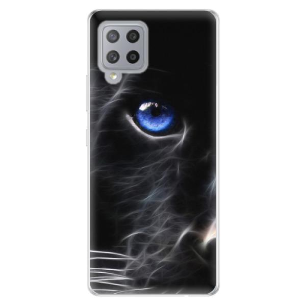 Odolné silikonové pouzdro iSaprio - Black Puma - Samsung Galaxy A42