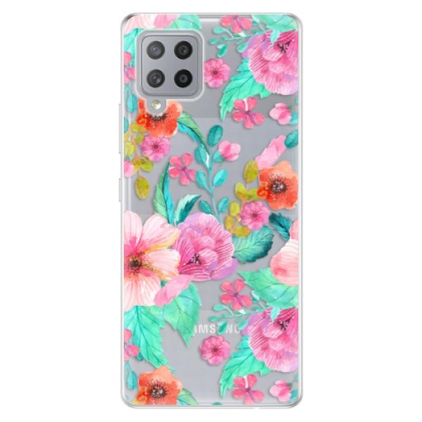 Odolné silikonové pouzdro iSaprio - Flower Pattern 01 - Samsung Galaxy A42
