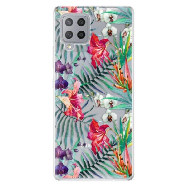 Odolné silikonové pouzdro iSaprio - Flower Pattern 03 - Samsung Galaxy A42