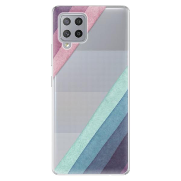 Odolné silikonové pouzdro iSaprio - Glitter Stripes 01 - Samsung Galaxy A42