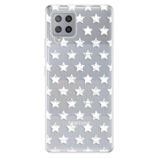 Odolné silikonové pouzdro iSaprio - Stars Pattern - white - Samsung Galaxy A42