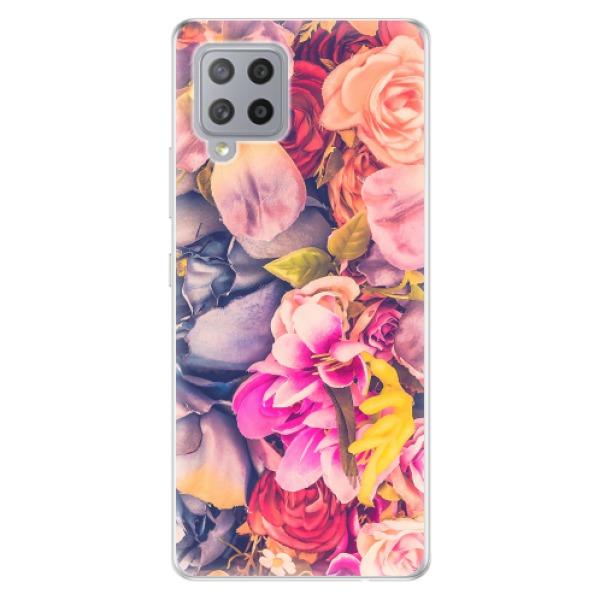 Odolné silikonové pouzdro iSaprio - Beauty Flowers - Samsung Galaxy A42