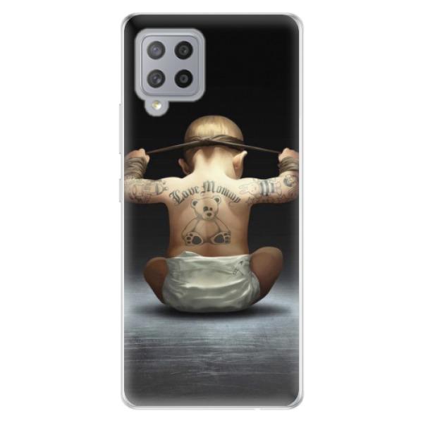 Odolné silikonové pouzdro iSaprio - Crazy Baby - Samsung Galaxy A42