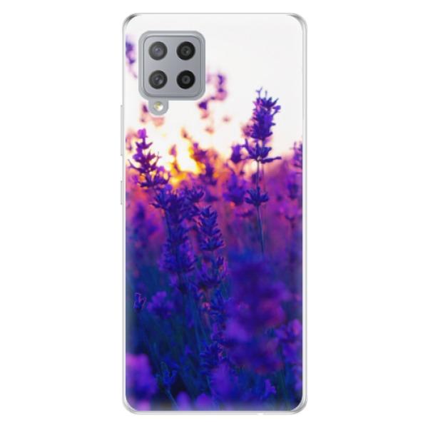 Odolné silikonové pouzdro iSaprio - Lavender Field - Samsung Galaxy A42
