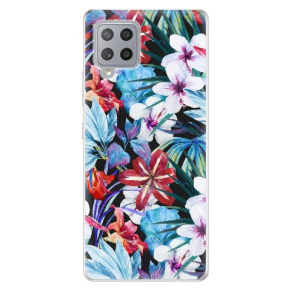 Odolné silikonové pouzdro iSaprio - Tropical Flowers 05 - Samsung Galaxy A42
