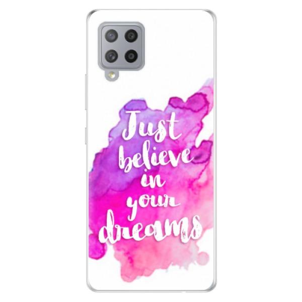 Odolné silikonové pouzdro iSaprio - Believe - Samsung Galaxy A42