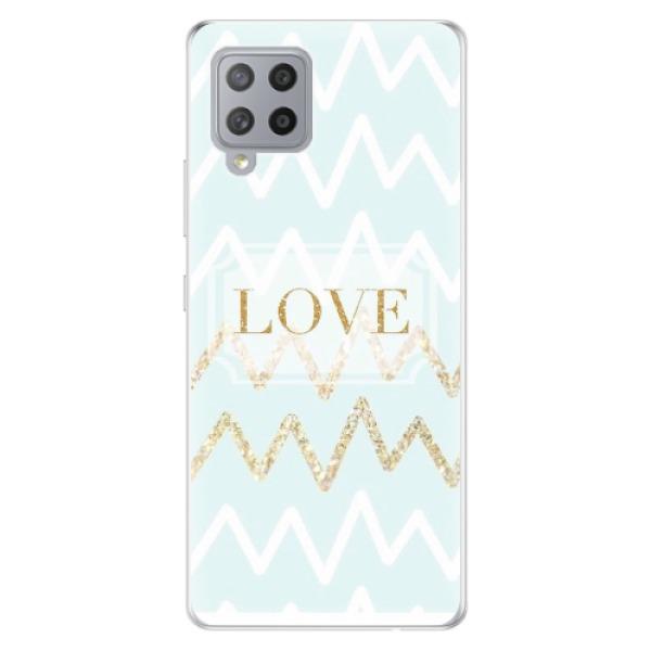 Odolné silikonové pouzdro iSaprio - GoldLove - Samsung Galaxy A42