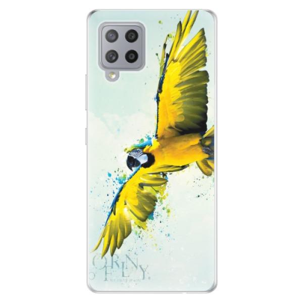 Odolné silikonové pouzdro iSaprio - Born to Fly - Samsung Galaxy A42