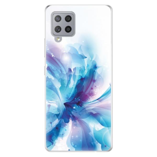 Odolné silikonové pouzdro iSaprio - Abstract Flower - Samsung Galaxy A42