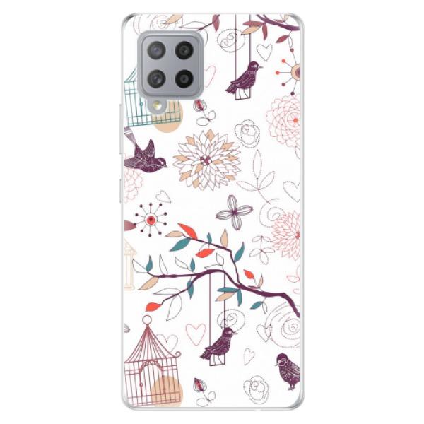 Odolné silikonové pouzdro iSaprio - Birds - Samsung Galaxy A42