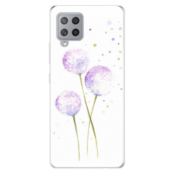 Odolné silikonové pouzdro iSaprio - Dandelion - Samsung Galaxy A42