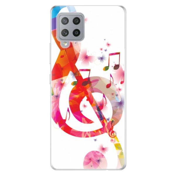 Odolné silikonové pouzdro iSaprio - Love Music - Samsung Galaxy A42
