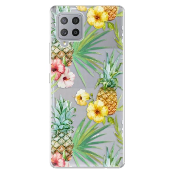Odolné silikonové pouzdro iSaprio - Pineapple Pattern 02 - Samsung Galaxy A42