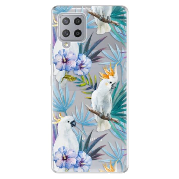 Odolné silikonové pouzdro iSaprio - Parrot Pattern 01 - Samsung Galaxy A42