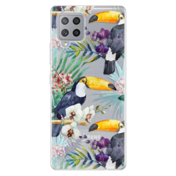 Odolné silikonové pouzdro iSaprio - Tucan Pattern 01 - Samsung Galaxy A42