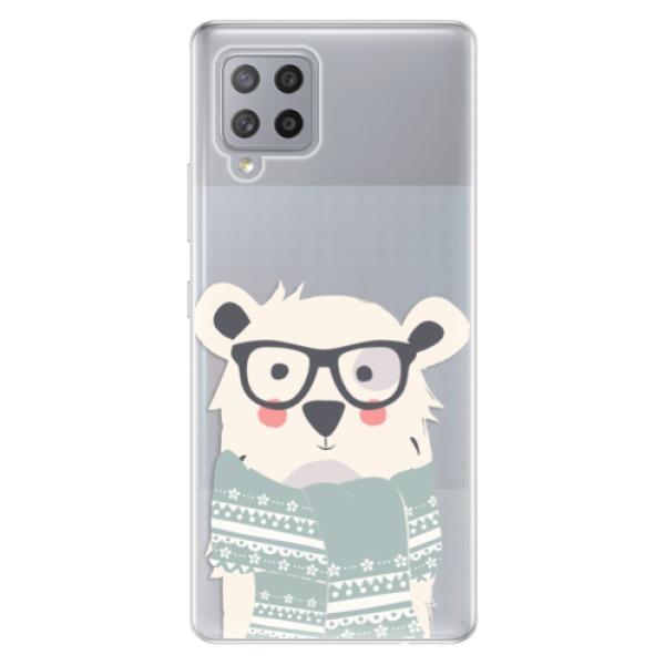 Odolné silikonové pouzdro iSaprio - Bear with Scarf - Samsung Galaxy A42