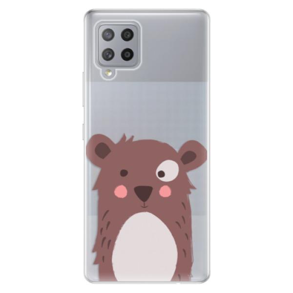 Odolné silikonové pouzdro iSaprio - Brown Bear - Samsung Galaxy A42
