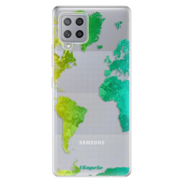 Odolné silikonové pouzdro iSaprio - Cold Map - Samsung Galaxy A42