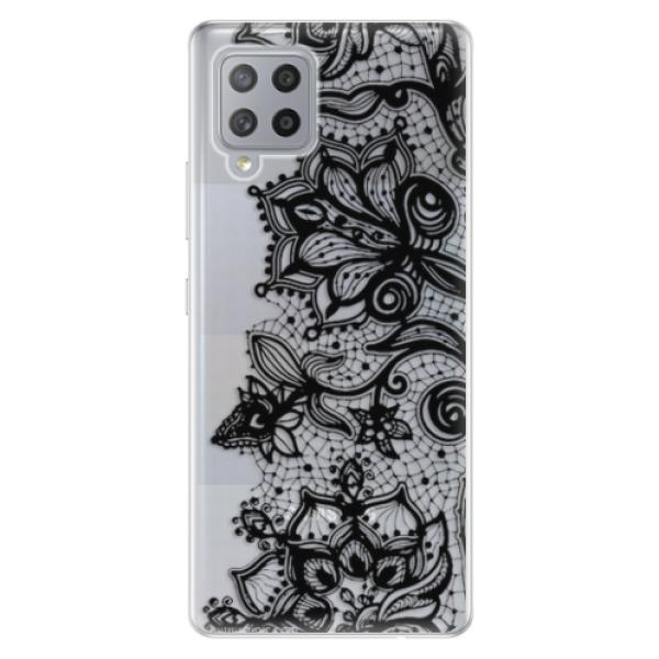 Odolné silikonové pouzdro iSaprio - Black Lace - Samsung Galaxy A42