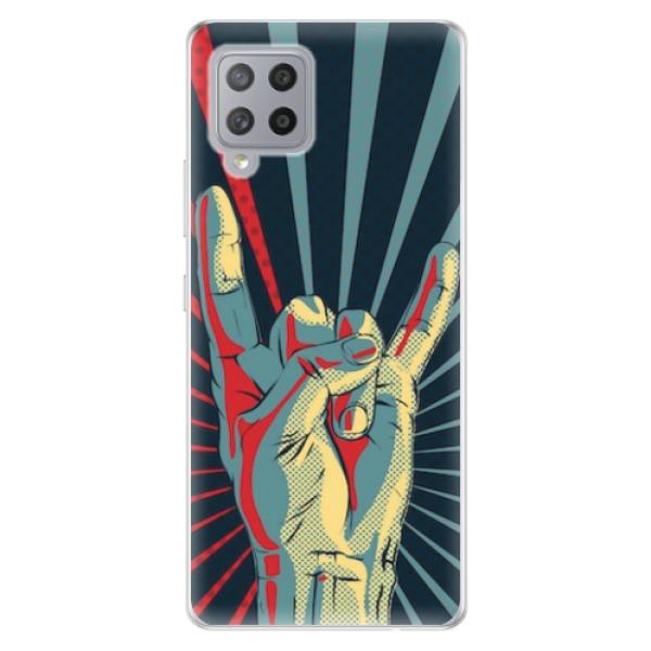 Odolné silikonové pouzdro iSaprio - Rock - Samsung Galaxy A42