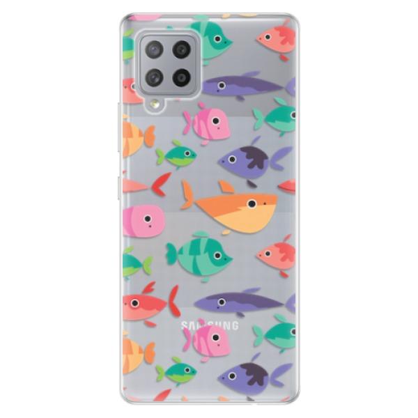 Odolné silikonové pouzdro iSaprio - Fish pattern 01 - Samsung Galaxy A42