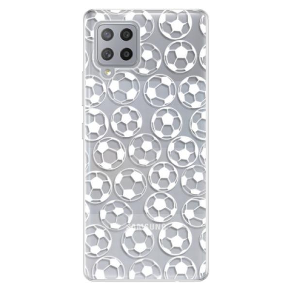 Odolné silikonové pouzdro iSaprio - Football pattern - white - Samsung Galaxy A42