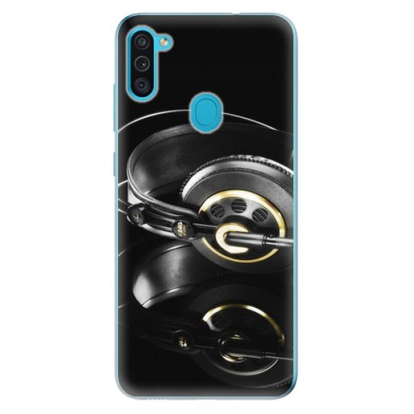 Odolné silikonové pouzdro iSaprio - Headphones 02 - Samsung Galaxy M11