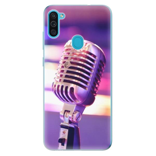 Odolné silikonové pouzdro iSaprio - Vintage Microphone - Samsung Galaxy M11