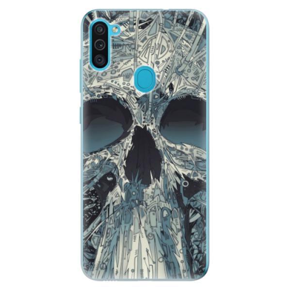 Odolné silikonové pouzdro iSaprio - Abstract Skull - Samsung Galaxy M11